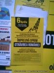 afise lipite protest manifestatie manifestare miting anti contra gaze sist exploatare hidraulica fracking 6 aprilie 2014 bucuresti romania strainatate zi nationala impotriva exploatarii 4