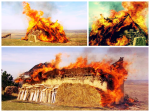 Experiment arderea unei case asemanatoare Cucuteni