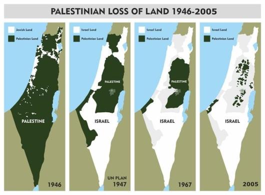 Harta criminalii evrei contra arabi in razboiul israel palestina fasia gaza terenurile palestiniene confiscate furate de guvernul Israel www.oriens.ro