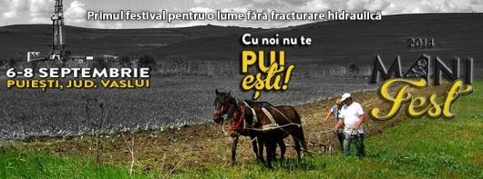 Protest anti gaze de sist Manifest Puiesti judetul vaslui, 6-8 septembrie 2014 impotriva fracturarii hidraulice fracking sonda fracturare pericole 10