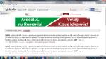 Banner maghiar anti-romanesc pe dexonline.ro - site care sustine votarea lui Iohannis anti ponta alegeri presedinte noiembrie 2014