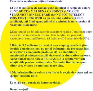 concluzii adrian grigoriu in urma dupa scrutin electoral alegeri 16 noiembrie 2014 presedintele romaniei vot