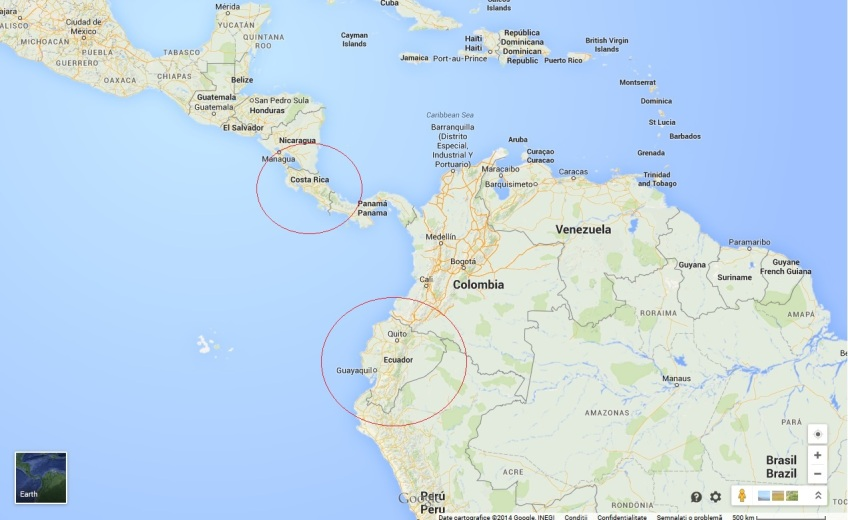 Harta Costa Rica Si Ecuador Cei Mai Mari Producatori De Banane Din