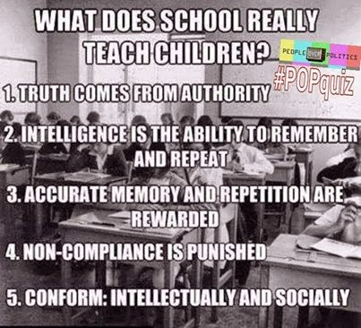 invatamant pentru turme scoala distruge mental copiii indoctrineaza indoctrinare obedienta autoritati