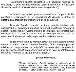 serban milcoveanu puterile tutelare straine in romania testamentul politic mihai eminescu