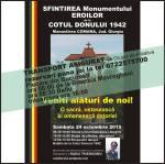 sfintire monument eroi romani batalia cotul donului 1942 manastirea comana 24 octombrie 2015