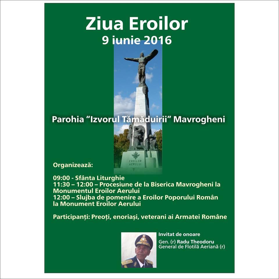 Ziua Eroilor 9 iunie 2016 – comemorata la Statuia ...