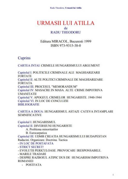 urmasii-lui-attila-carte-1999-radu-theodoru-cuprins-crimele-hungarismului-asupra-romanilor-1