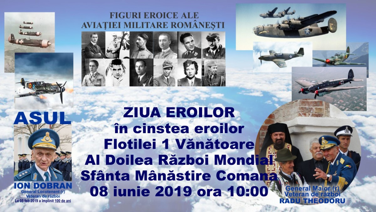 ziua-eroilor-manastirea-comana-8-iunie-comemorare-eroi-aviatie-razboi-mondial
